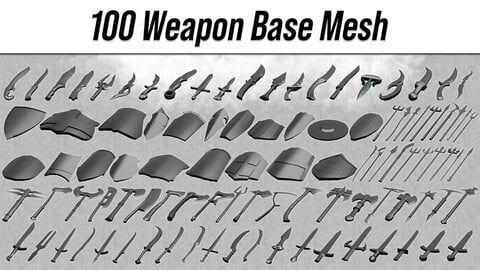 100 Weapon Base Mesh
