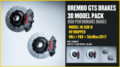BREMBO GTS Brakes 3D Model