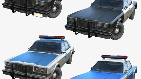 Dodge Diplomat 1980 police car PBR