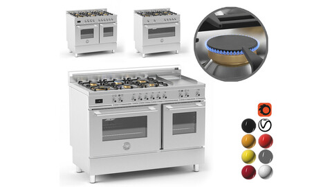 Bertazzoni cooker collection 3D model