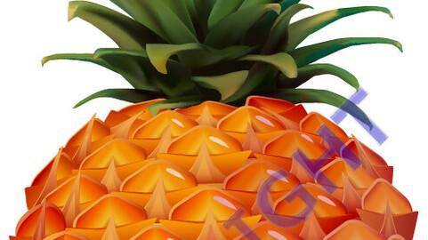 Pineapple vector format