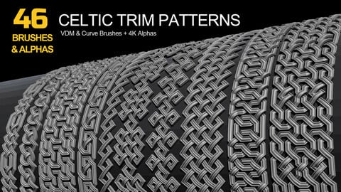 46 Celtic Trim Brushes and Alphas