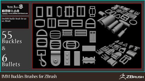 IMM Buckle Brushes for ZBrush