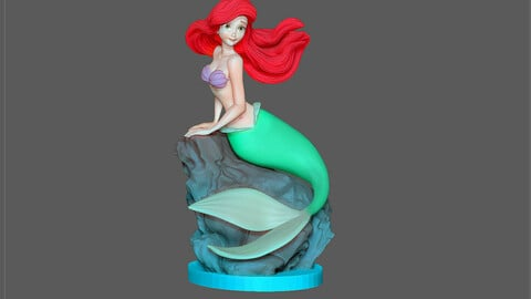 ARIEL LITTLE MERMAID DISNEY ANIMATION CHARACTER STATUE