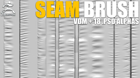 Seam Brushes Vol.3 (VDM + 18 Alphas PSD)
