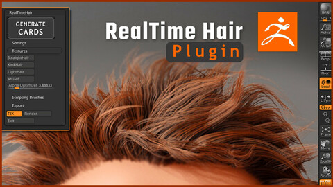 Real-time Hair ZBrush Plugin