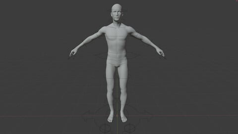 Male Base Mesh Rigged 7.4k faces (OBJ DAE FBX X3D BLEND)
