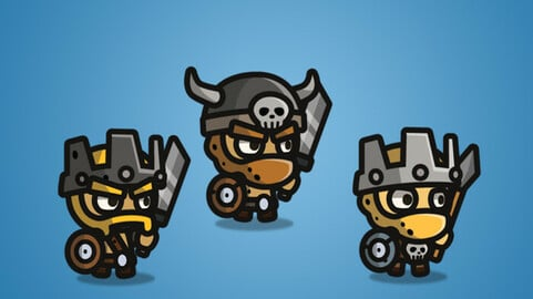 Tiny Style Character – Barbarian