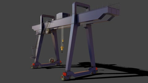 PBR Double Girder Gantry Crane V1 - Blue Dark