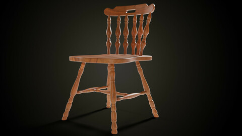 Wooden carving chair