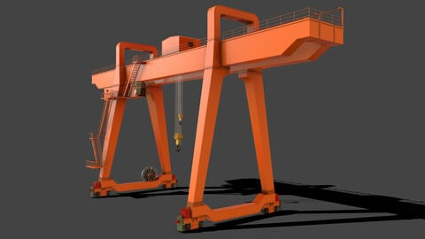 PBR Double Girder Gantry Crane V1 - Orange
