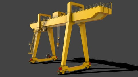 PBR Double Girder Gantry Crane V1 - Yellow Light