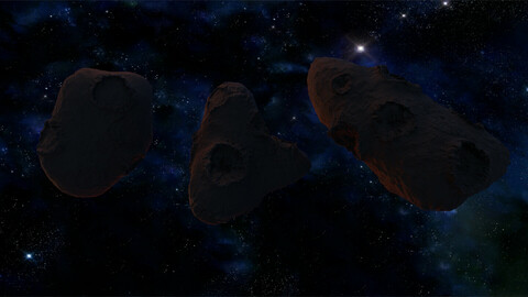 pack of 3 asteroid