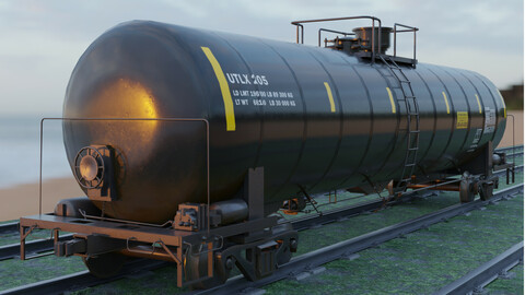 Railway Tank Car - Railroad - Train Tank Wagon