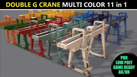 PBR Double Girder Gantry Crane V1 - Multi color Pack
