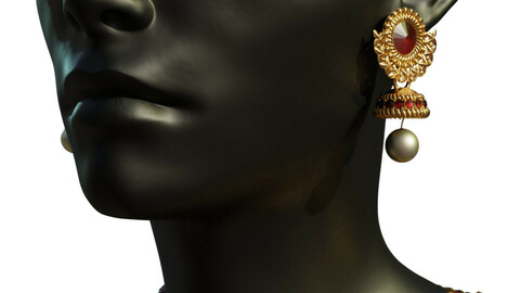 Gold and Ruby Jewelry set
