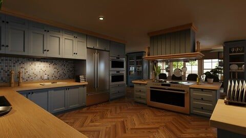 Classic style porch house kitchen furniture pack