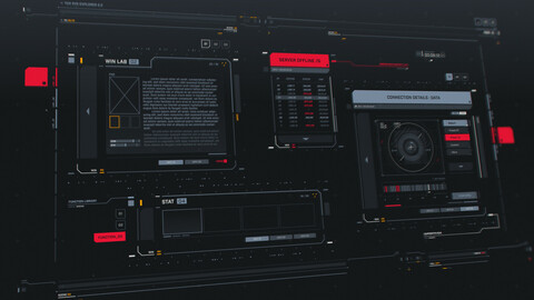 FUI / UI - Screen graphics set
