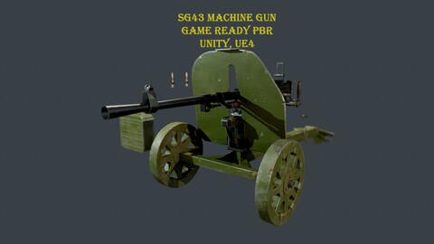 SG 43 Soviet WW2 machine gun