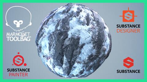 Snow Ice Glacier Seamless PBR Texture