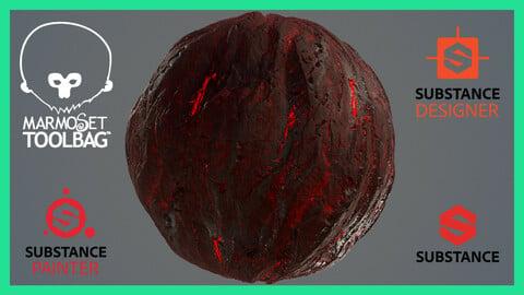 PBR Rock Ground Terrain Seamless Material Texture