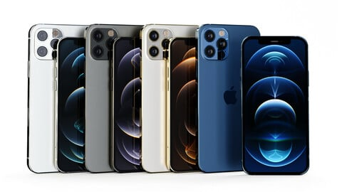 iPhone 12 Pro and iPhone 12 Pro Max All Official Colors - Model Set