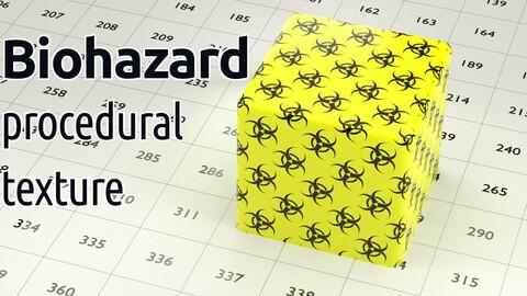 Biohazard procedural texture for Blender