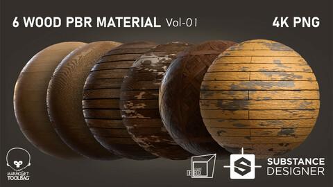 Wood Materials  Vol 01 Substance Designer