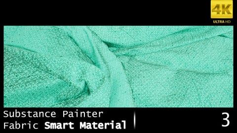 Substance Painter Fabric Smart Material /4K High Quality / 3