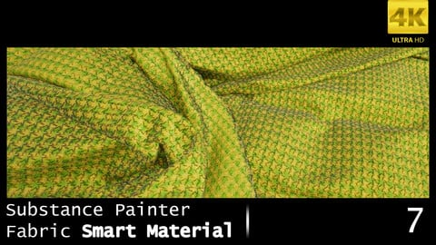 Substance Painter Fabric Smart Material /4K High Quality / 7