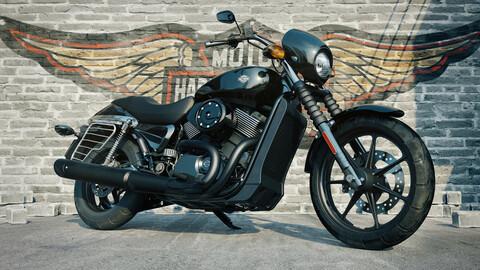 Harley Davidson 750 (Rigged)