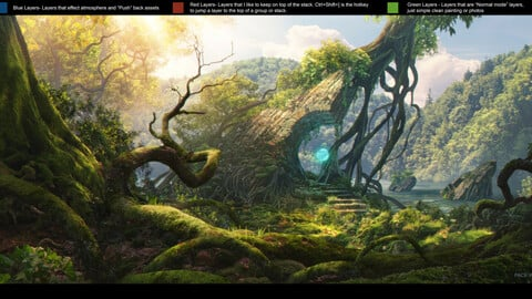 PSD File Tutorial - Fantasy Concept Matte Painting