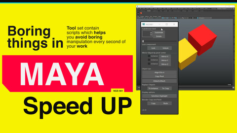 Autodesk Maya Scripts [fast operation] /Stop spend time on boring actions!