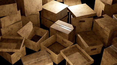 Old Cardboard Boxes