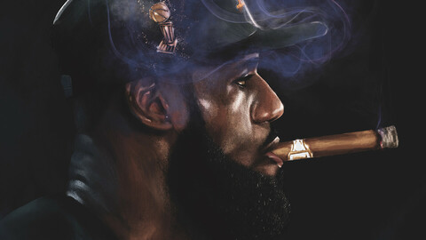 Portrait LeBron James