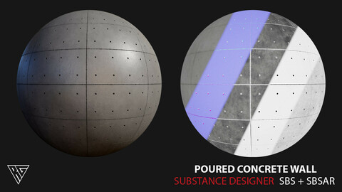 Poured Concrete Wall - Substance Designer