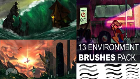 13 ENVIRONMENT TEXTURE BRUSHES PACK