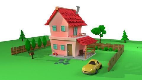Cartoon house 3