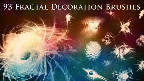 93 Fractal Decoration Brushes