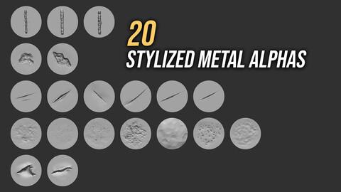 20 Stylized Metal Alphas