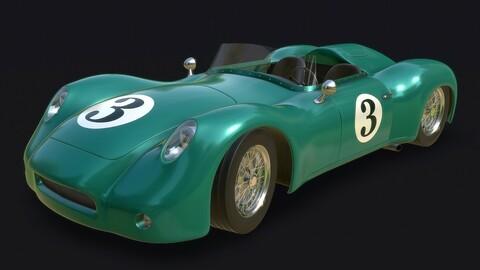 Vintage Racing Car PBR Real-Time