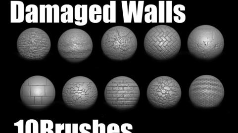 Damaged walls brush