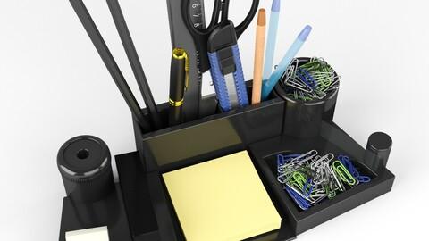 Stationery set on the Desk.