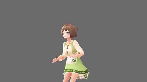 Stylized 3D Girl Character Model