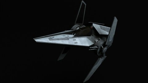 Star Wars V-wing starfighter 3D model