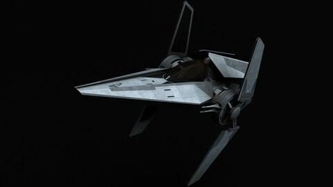 Star Wars V-wing starfighter 3D model