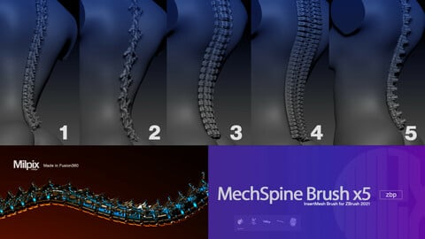 MechSpine Brush x5