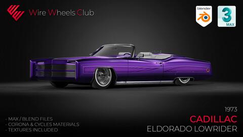 1973 Cadillac Eldorado Custom Lowrider - 3D Model