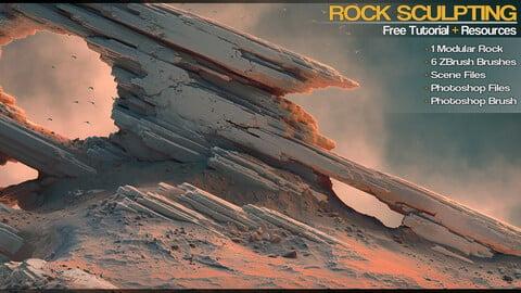 Modular Rock Sculpting - [Free Tutorial & Resources]