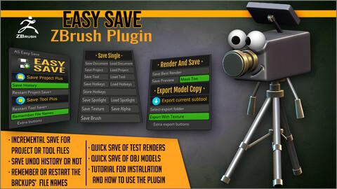Easy Save ZBrush Plugin